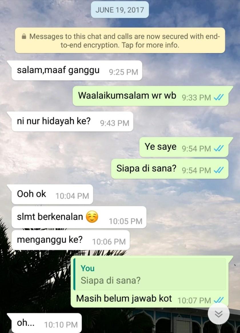 First whatsapp